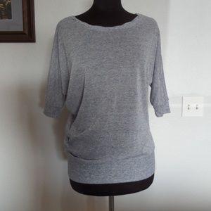 FOREVER21 womens blouse Shirt 3/4sleeve Light blue